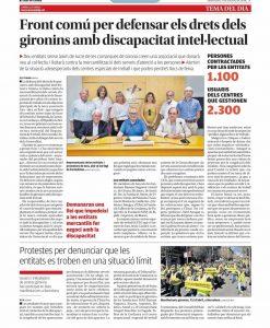 Front comu per defensar els drets dels gironins amb discapacitat intelectual