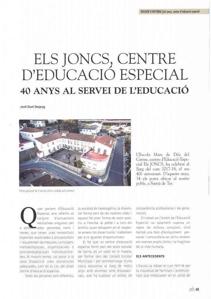 entrevista director els joncs centre educacio especial
